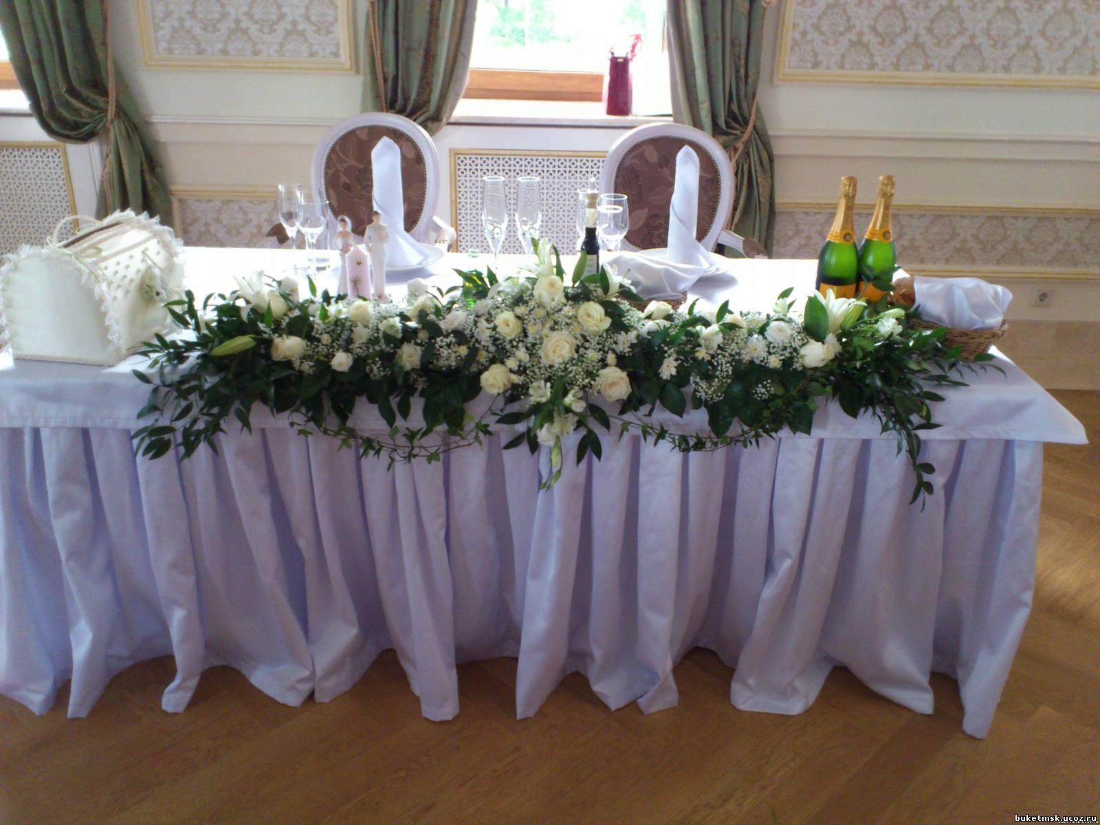 Фото украшений на свадебный стол